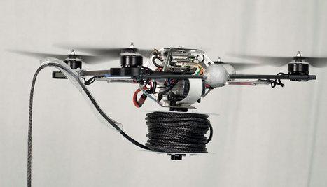 Quand des drones construisent un pont   Libertés Numériques   Scoop.it