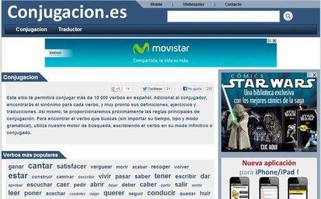 Conjugación, un sitio con más de 12000 conjugaciones de verbos en español   NTICs en Educación   Scoop.it