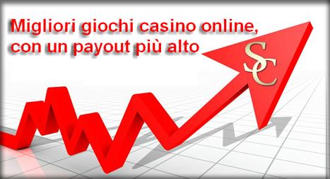 Migliori giochi casino online, con un payout più alto | Giochi Casinò Online con Bonus gratis e senza deposito AAMS | Scoop.it