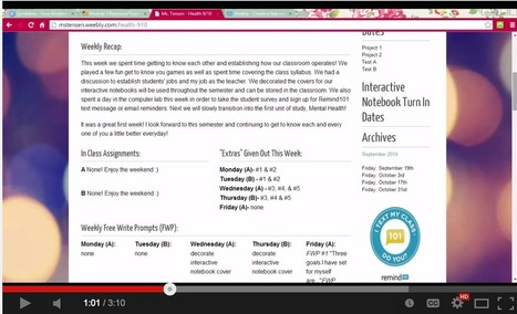 Video Tutorials to Help You Create A Classroom Website Using Weebly | Technology in Education | Scoop.it