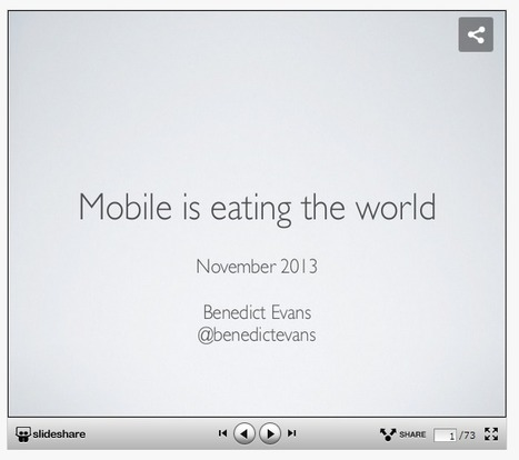 Mobile is eating the world, autumn 2013 edition | Ubiquitous Learning | Scoop.it