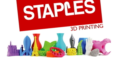 Staples: Excited About the 3D Printing Space, Services Still Developing - 3DPrint.com | 3D Printing and Fabbing | Scoop.it