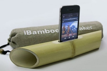 iBamboo is an Electricity-Free iPhone Speaker Made from a Piece of Bamboo | Geeks | Scoop.it