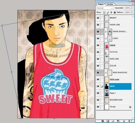 Photoshop tutorial: New tricks for vector portraits | Inspiration & Tutorials | Scoop.it