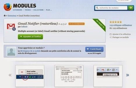 Gmail Notifier (restartless) : une extension Firefox pratique pour gérer plusieurs comptes Gmail simultanément | netnavig | Scoop.it