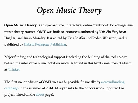 Open Music Theory – Open Music Theory | music innovation | Scoop.it