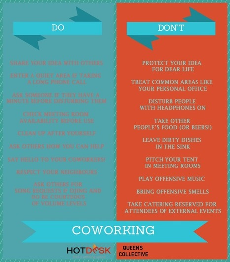 The DOs and DO NOTs of Coworking - Hotdesk.net - Blog | Coworking | Shared Office Space | Sharing Economy | Info BtoB cowork | Scoop.it