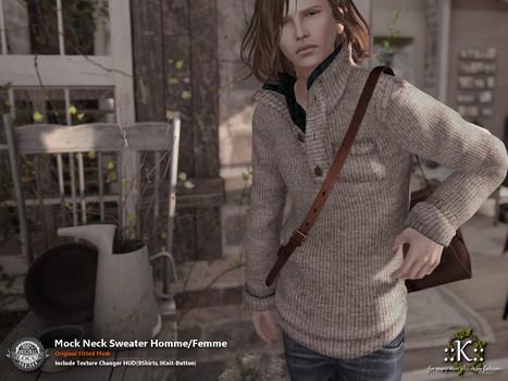 ::K::: ::K:: Mock Neck Sweater Homme/Femme @ TMD November   Style of LIFE   Scoop.it