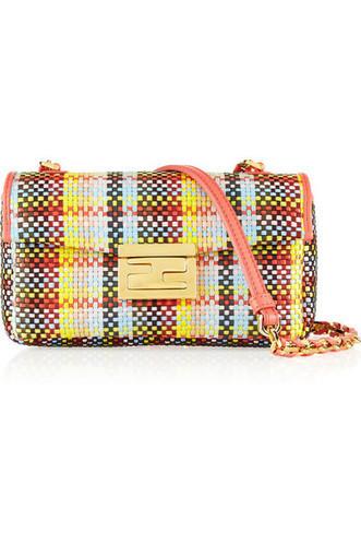 Fendi|Be Baguette mini woven straw shoulder bag|NET-A-PORTER.COM | kid dress | Scoop.it