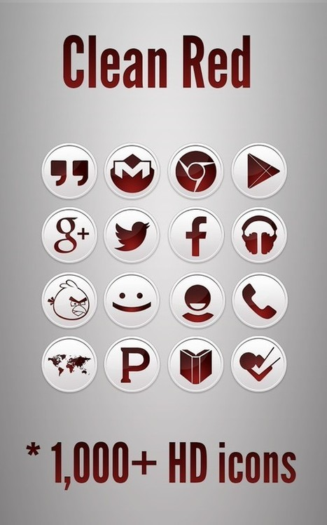 Clean Red - Icon Pack v2.2.3 | ApkLife-Android Apps Games Themes | Android Apps And Games ApkLife.com | Scoop.it