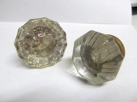 Vintage Hardware Glass Door Knobs Set of 2 | Drowning In Door Knobs | Scoop.it