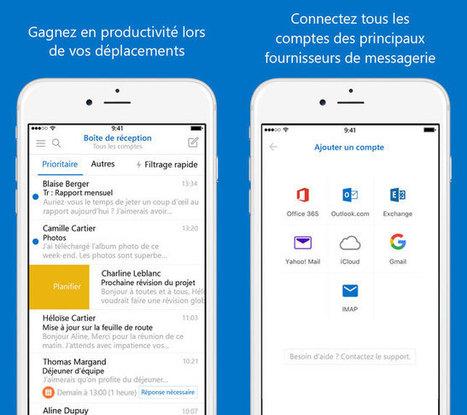 Microsoft Outlook (iOS) - Email et calendrier passe en version 2.0 | gestion temps, outlook, lotus notes | Scoop.it