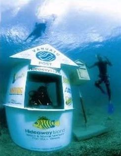Vanuatu Post's Underwater Post Office, just off Hideaway Island near Port Vila, Visitors from around the world have literally donned their mask and snorkels, postcards in hand to experience the wor... | Real Estate | Scoop.it
