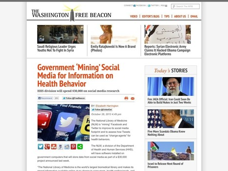 Government 'Mining' Social Media for Information on Health Behavior | 21st Century Learners | Scoop.it
