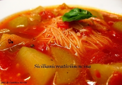 Long zucchini with tomato and rice noodles | Re Coquinaria | Scoop.it