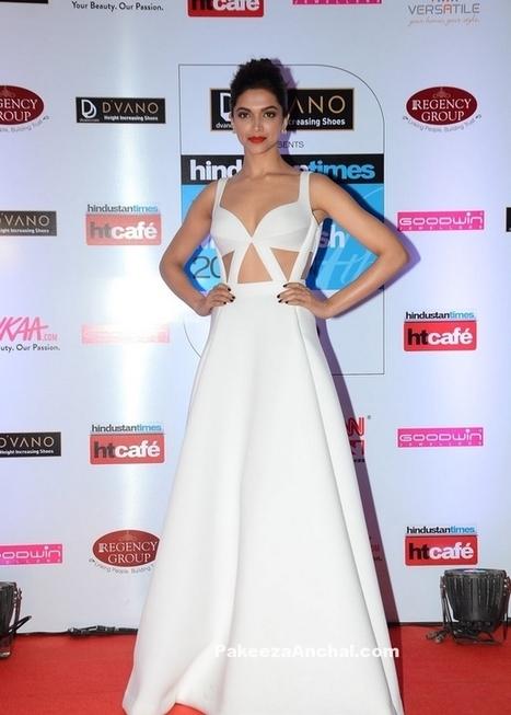 Deepika Padukone in Monisha Jaising's White Cut-Out gown at HT Mumbai's Most Stylish 2015 | Indian Fashion Updates | Scoop.it
