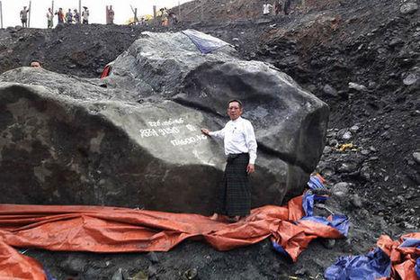 Une pierre de jade de 174 tonnes découverte en Birmanie   TdF      Culture & Société   Scoop.it