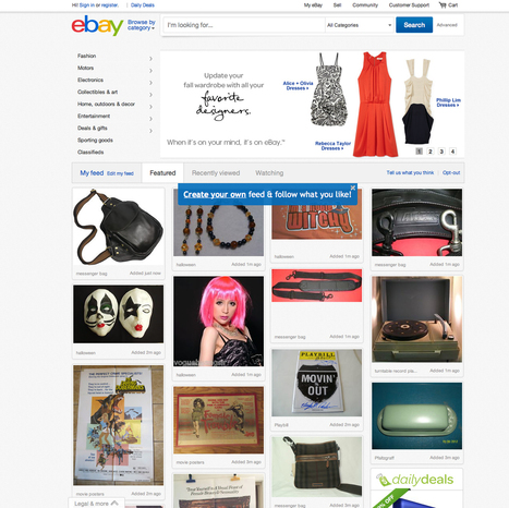 eBay rolls out The Feed to UK as it personalises its homepage | e-commerce  - vers le shopping web 3.0 | Scoop.it