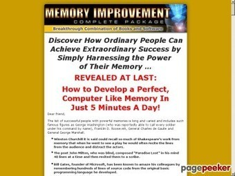 => Memory Improvement Techniques Psychology : Hoyfmp Blog | fifteen minutes to change your life | Scoop.it