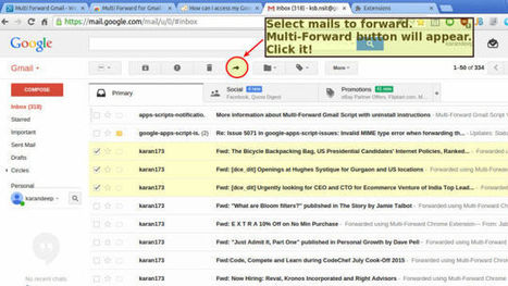 Multi Forward for Gmail Forwards Emails in Bulk | TEFL & Ed Tech | Scoop.it