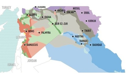 Who Has Gained Ground in Syria and Iraq Since June 2014 | Géopolitique & Cartographie | Scoop.it