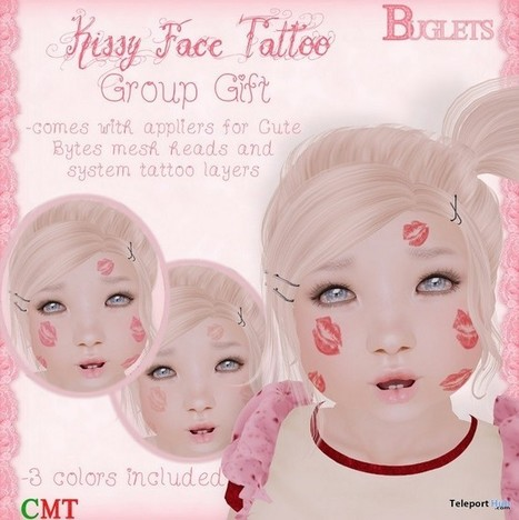 Kissy Face Tattoo Group Gift by Buglets | Teleport Hub - Second Life Freebies | Second Life Freebies | Scoop.it