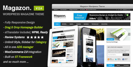 Magazon v2.4 Advanced, Responsive WP Magazine Theme | Download Free Full Scripts | nose ke poner aki | Scoop.it