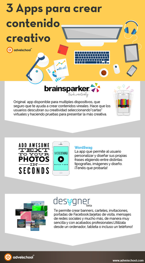 3 APPs para crear contenido creativo #infografia #infographic #design | Recursos TIC | Scoop.it