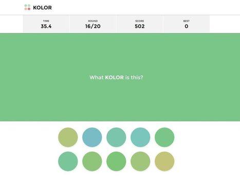 Kolor. Un jeu pour en voir de toutes les couleurs - Allweb2 - Les Outils du Web | Les outils du Web 2.0 | Scoop.it