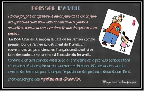Mange, aime, parle en français.: Poisson d'avril | Holidays and Special Traditions | Scoop.it