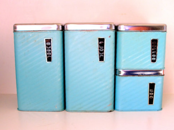50's Kitchen Canisters | Antiques & Vintage Collectibles | Scoop.it