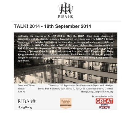 ASYNSIS presents @ UKTI GREAT Creativity Festival + RIBA Talk! Pecha Kucha, PMQ-Hong Kong | Asynsis Principle-Constructal Law | Scoop.it
