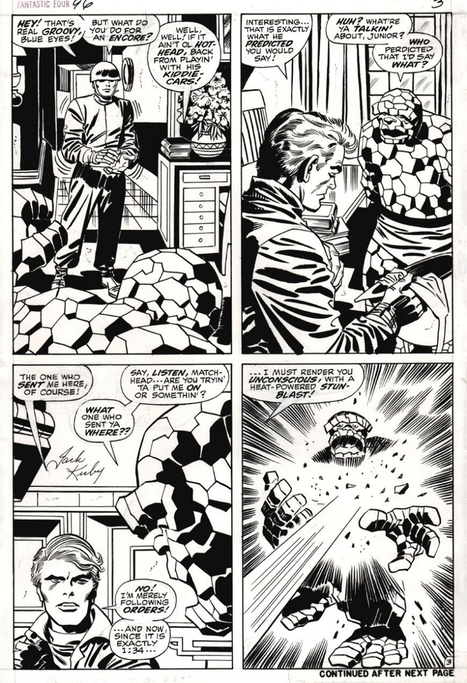 """FOR SALE - Jack KIRBY - FF#96p3, in bobfish's ART FOR SALE Comic Art Gallery Room 