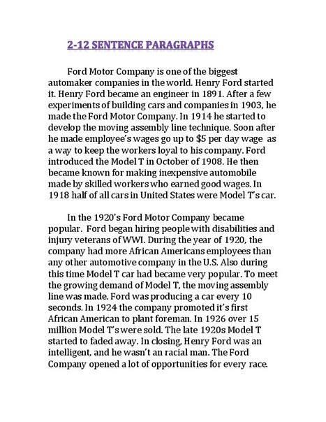 2 Paragraphs   Ford Motor Company By Ashley S.   Scoop.it