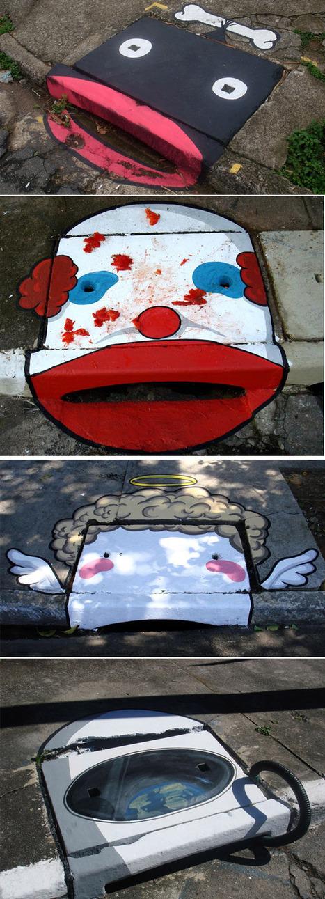 O Lápis Verde: Street art em bueiros de rua   Urban Life   Scoop.it