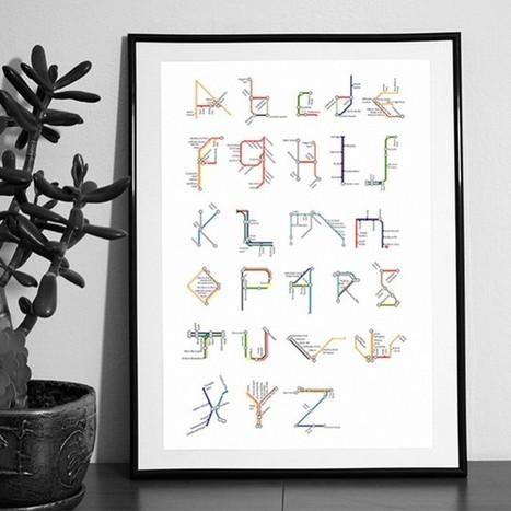Subway Alphabets | Graphic Design | Scoop.it