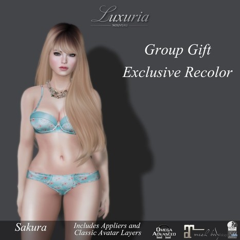 Sakura Group Gift Lingerie Group Gift by Luxuria | Teleport Hub - Second Life Freebies | Second Life Freebies | Scoop.it