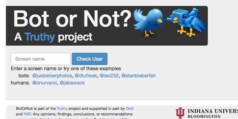 Détectez les robots sur Twitter avec BotOrNot | WEB | Scoop.it