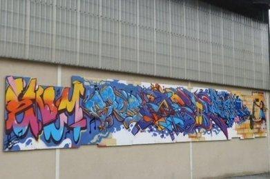 Un graffeur lillois décore le gymnase - Sud Ouest | Apprendre la calligraphie | Scoop.it