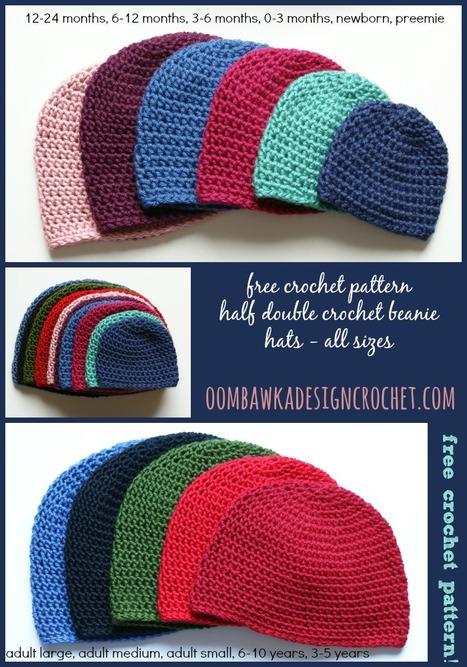Free Crochet Pattern - Half Double Crochet Hat Pattern | Free Crochet Patterns | Scoop.it