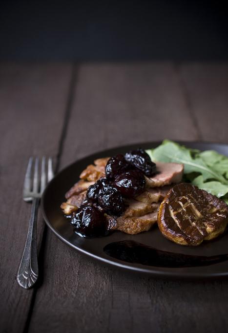 Guest recipe: Duck Breast with Foie Gras and Balsamic Cherries | comida | Scoop.it