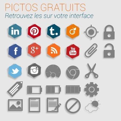 Pictos gratuits pour votre site ou votre appli | Wordpress, SEM et Webmarketing | Scoop.it