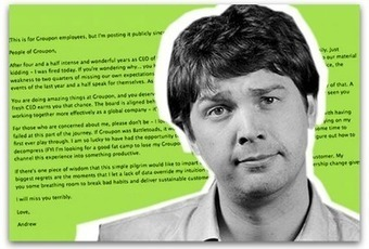 Groupon CEO brutally honest in departing memo | Articles | Main | Hybrid Public Relations | Scoop.it