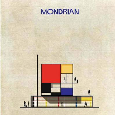 Famous artworks transformed into buildings by Federico Babina | 建築 | Scoop.it