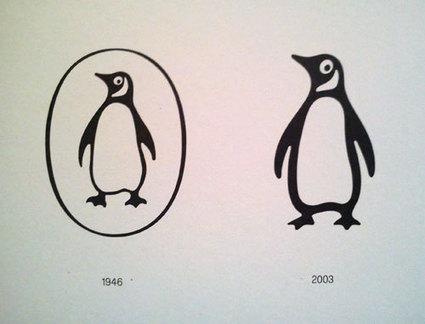 Penguin logo evolution | Logo Design Love | Street-art Design Grafititi et Gros minet | Scoop.it