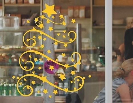 Decoración con vinilos Navideños. ideas para decorar en navidad | vinilos navidad | Scoop.it