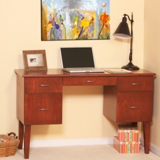 Shaker Writing Desk w/ File Drawers | Personal | Scoop.it