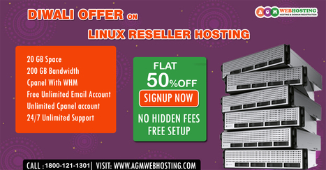 This Diwali Save Flat 50% off on Linux Reseller Hosting | AGM Web Hosting | Scoop.it