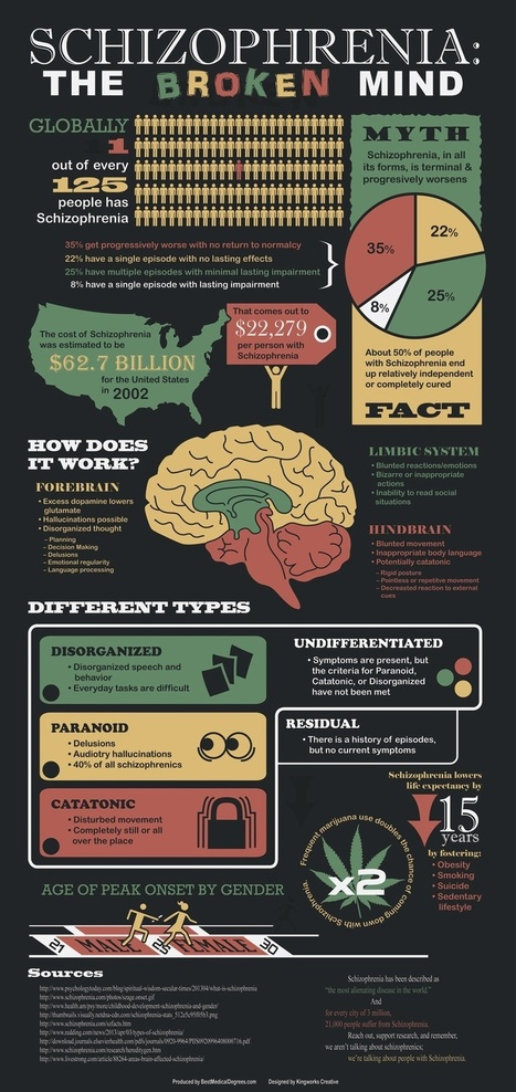 An infographic on schizophrenia | St John's Clinical Psychology | Scoop.it