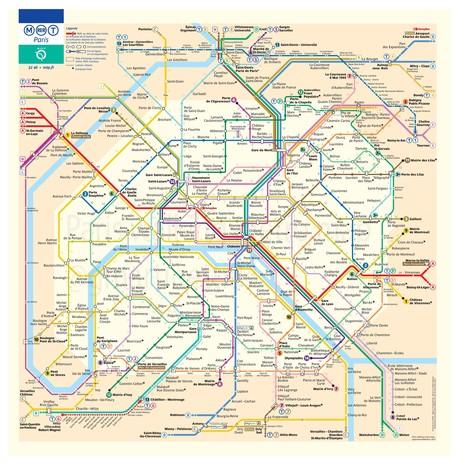 La carte du métro qui indique le temps de marche entre les stations | le Bonbon | Mobilités | Scoop.it